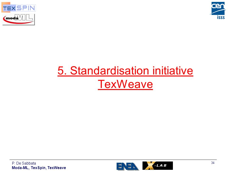 5. Standardisation initiative TexWeave