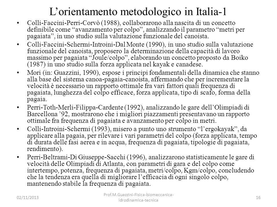 L'orientamento metodologico in Italia-1