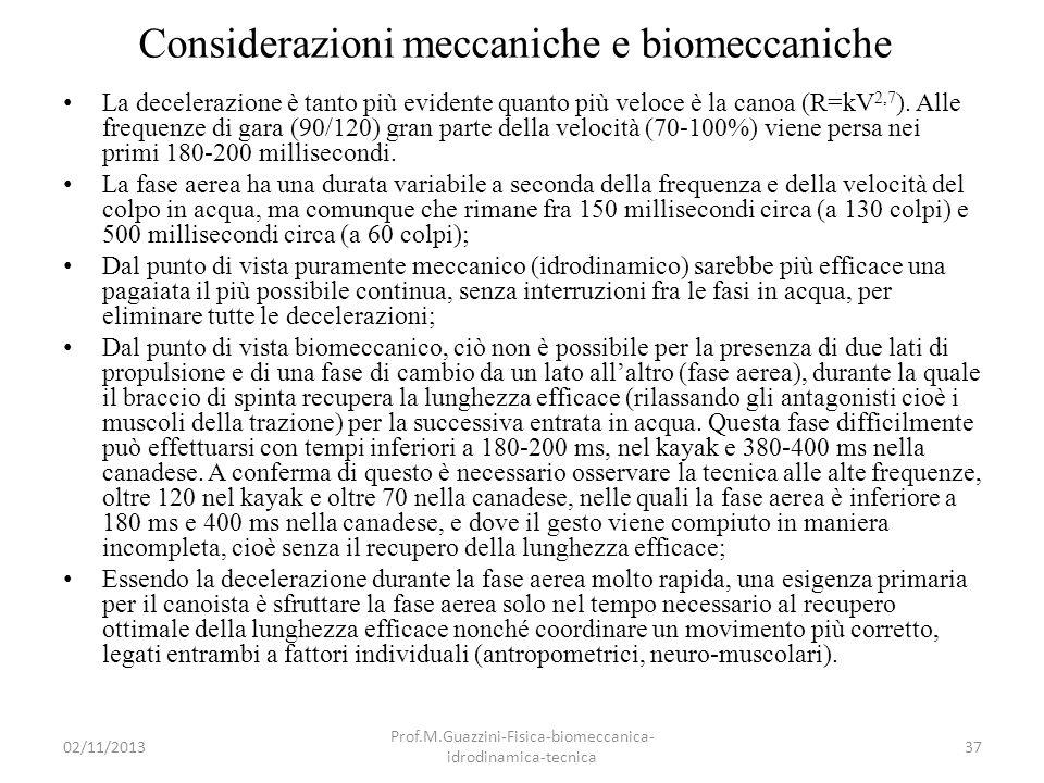 Considerazioni meccaniche e biomeccaniche