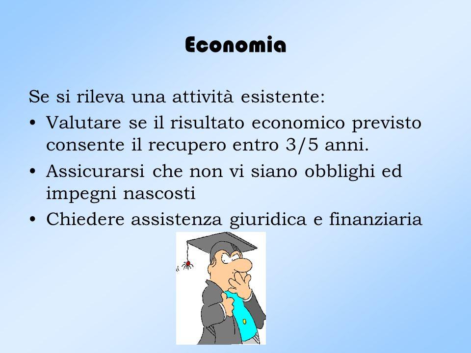 Economia Se si rileva una attività esistente: