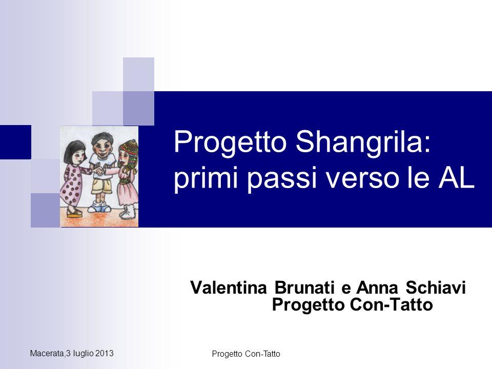 Progetto Shangrila: primi passi verso le AL