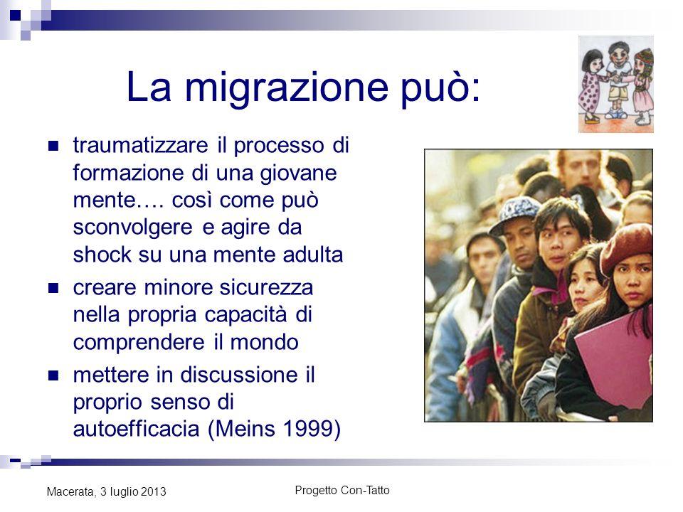 La migrazione può: traumatizzare il processo di formazione di una giovane mente…. così come può sconvolgere e agire da shock su una mente adulta.