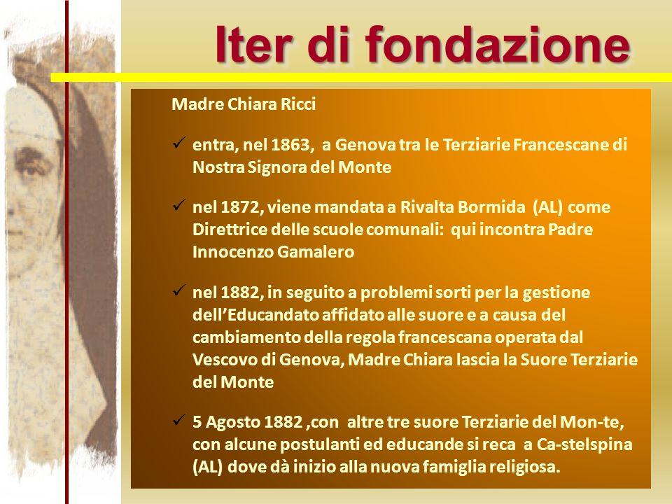 Iter di fondazione Madre Chiara Ricci