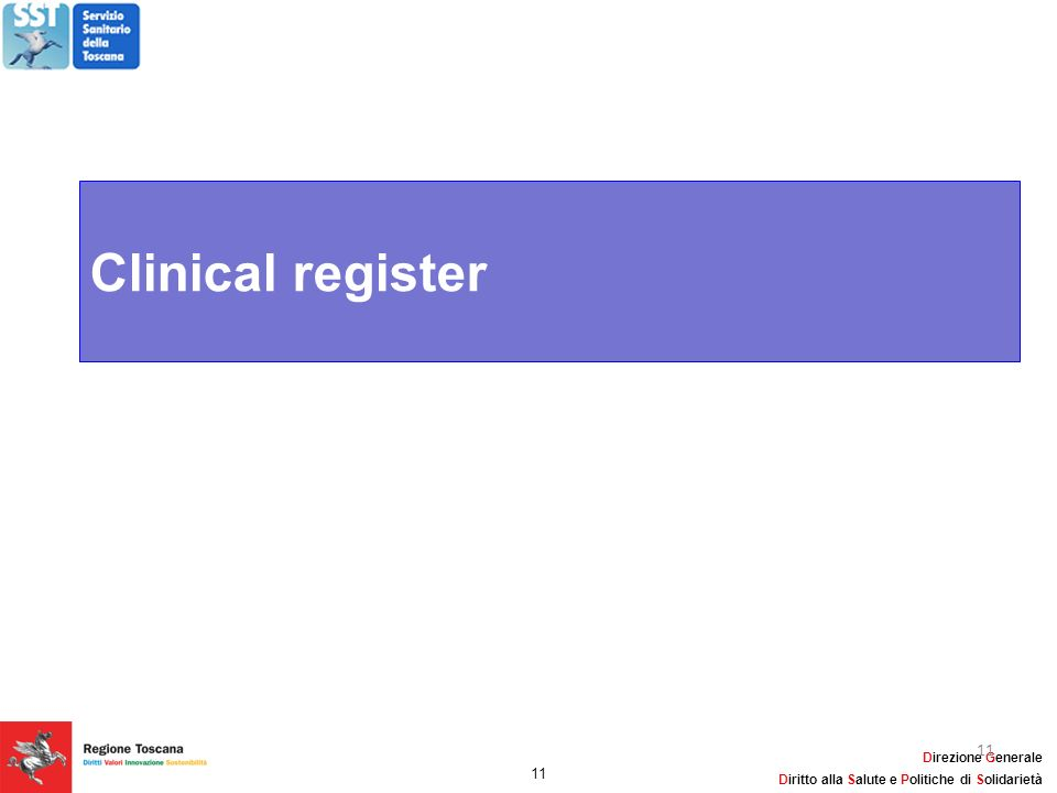 Clinical register 11 11