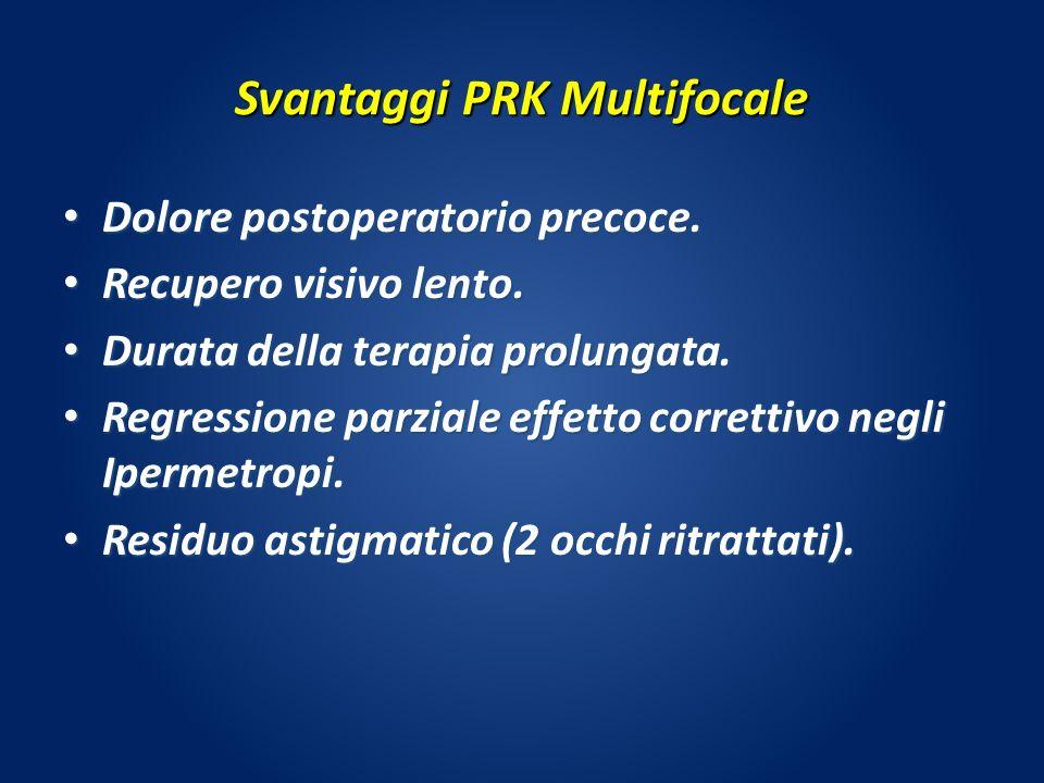 Svantaggi PRK Multifocale