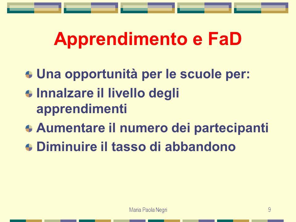 Apprendimento e FaD Una opportunità per le scuole per: