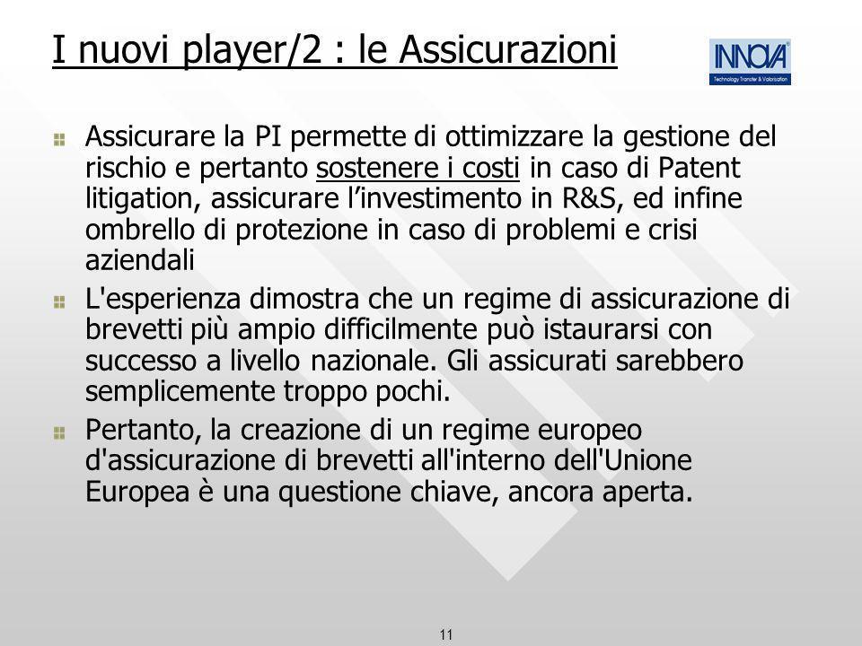 I nuovi player/2 : le Assicurazioni
