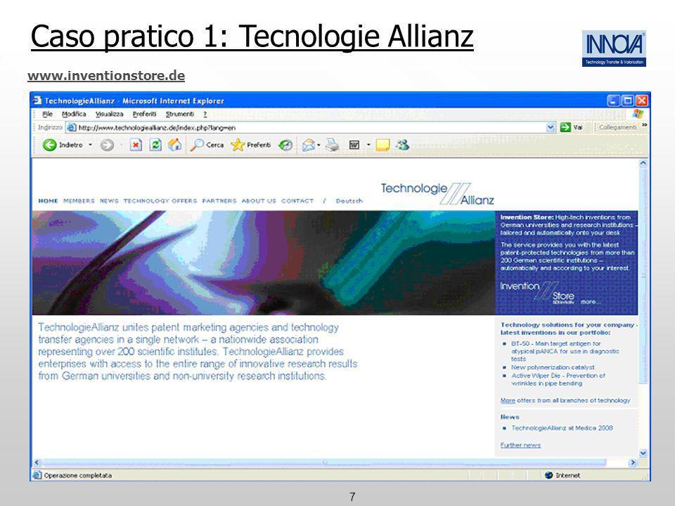 Caso pratico 1: Tecnologie Allianz