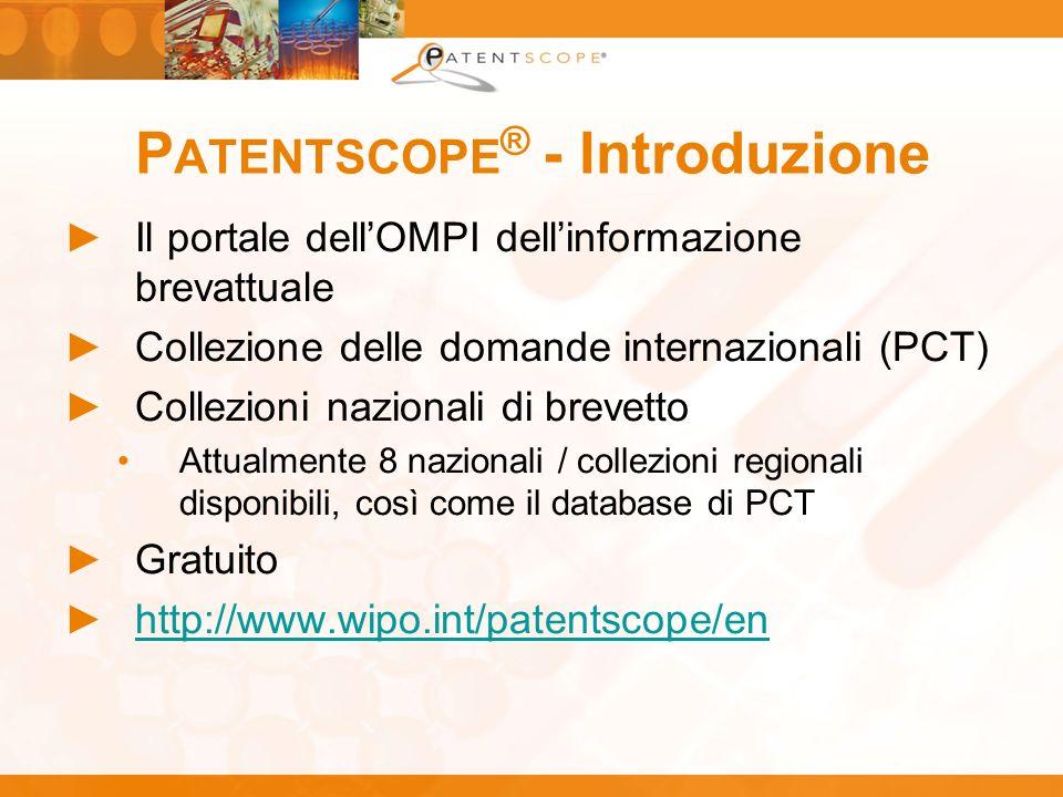 PATENTSCOPE® - Introduzione