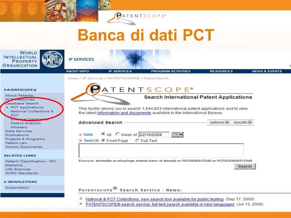 Banca di dati PCT