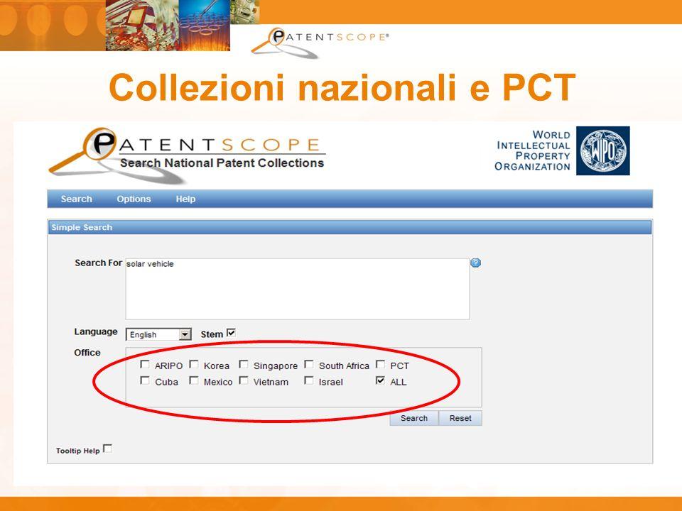 Collezioni nazionali e PCT