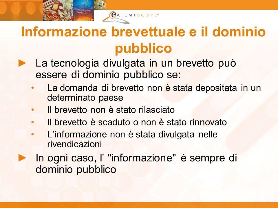 Informazione brevettuale e il dominio pubblico