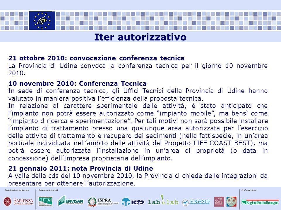 Iter autorizzativo 21 ottobre 2010: convocazione conferenza tecnica