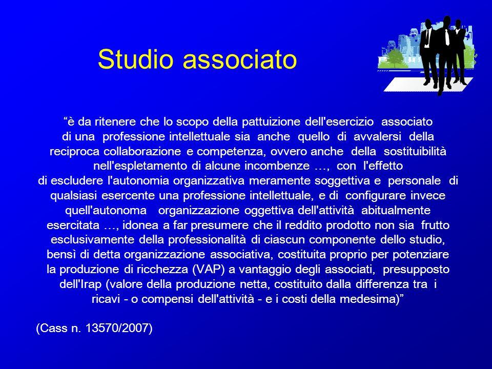 Studio associato è da ritenere che lo scopo della pattuizione dell esercizio associato.