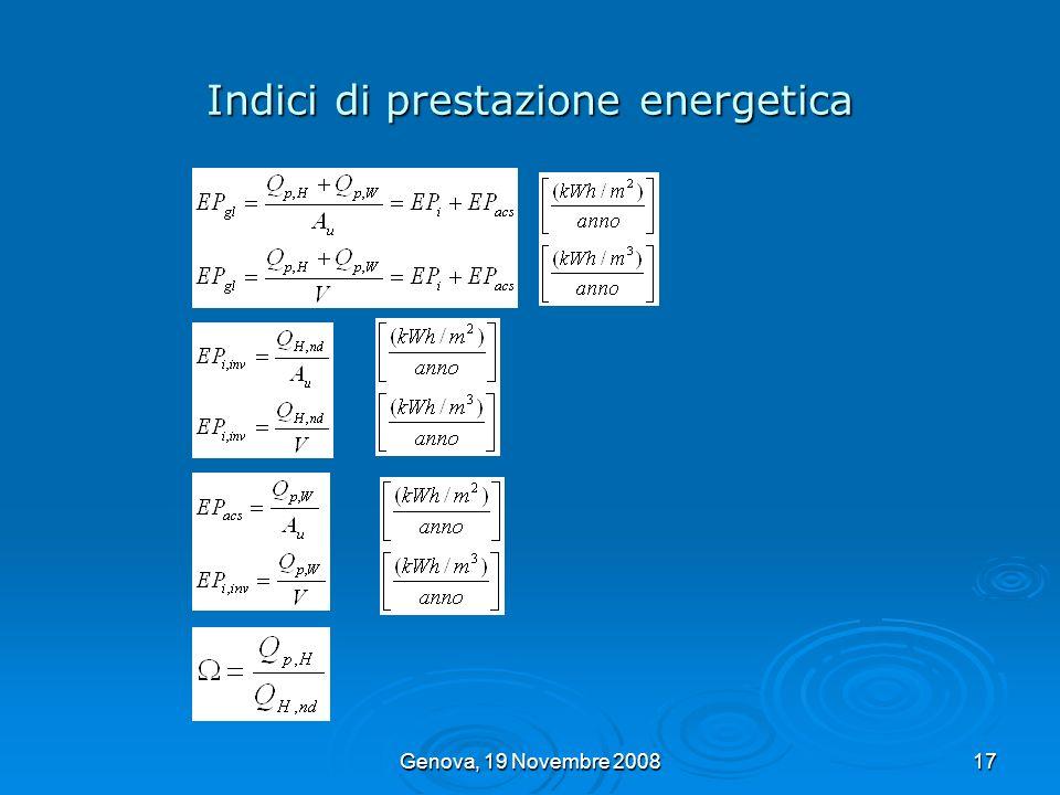 Indici di prestazione energetica