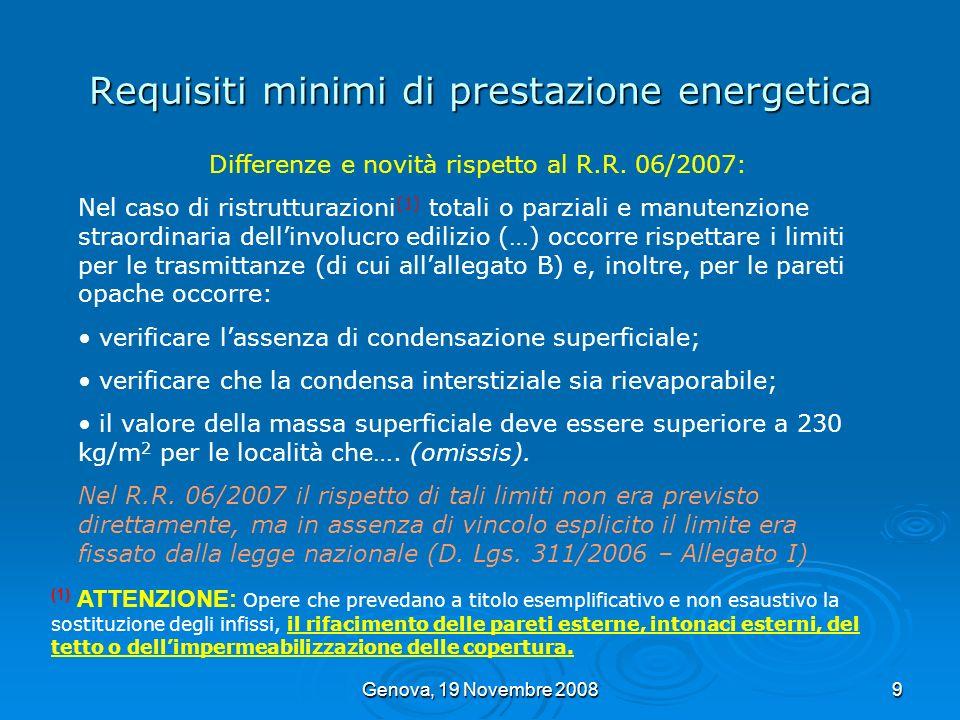 Requisiti minimi di prestazione energetica