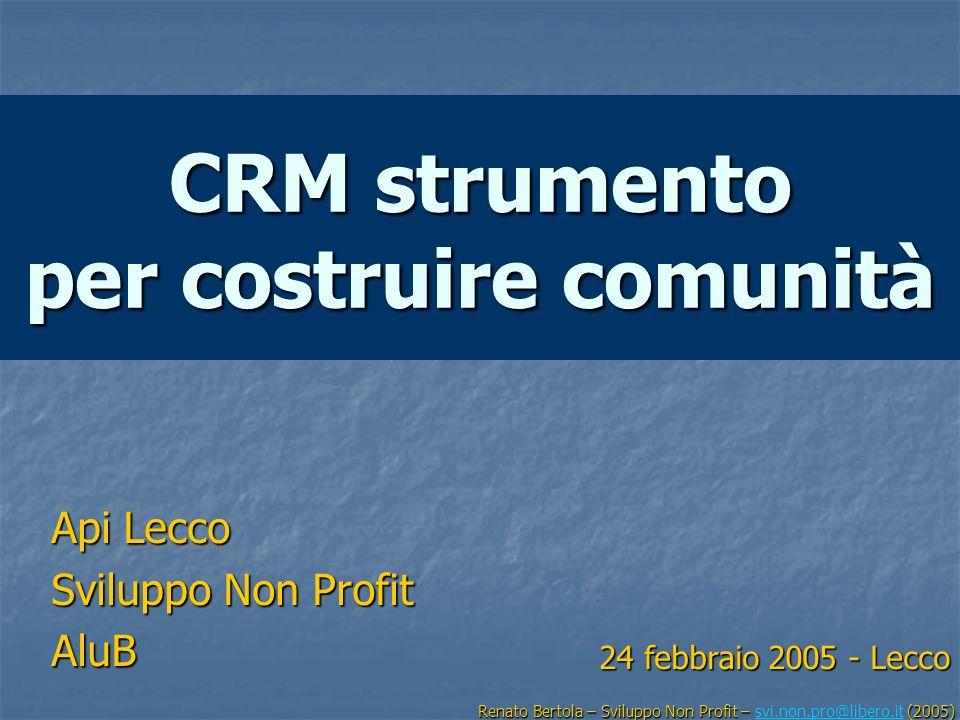CRM strumento per costruire comunità