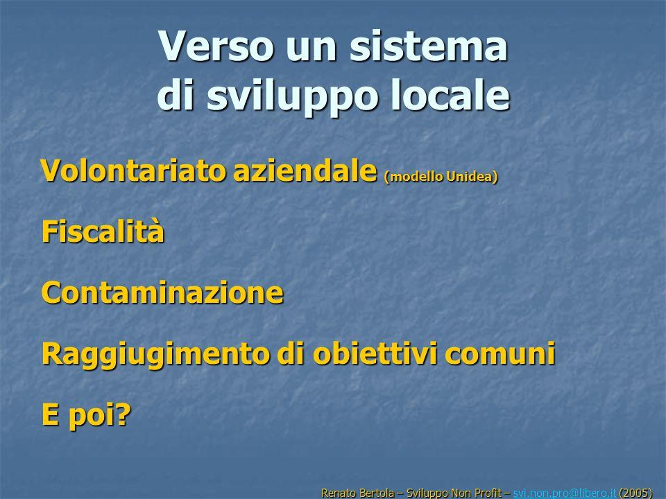 Verso un sistema di sviluppo locale