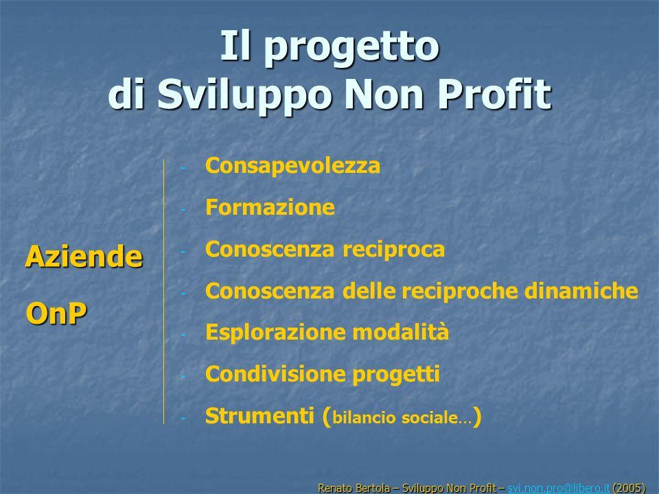 Il progetto di Sviluppo Non Profit