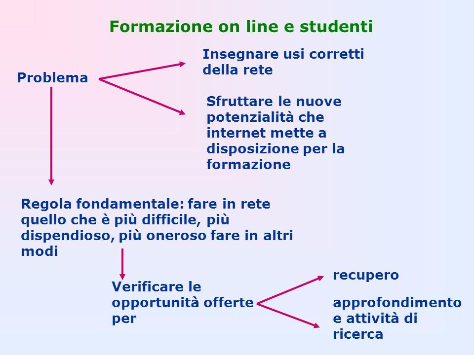 Formazione on line e studenti