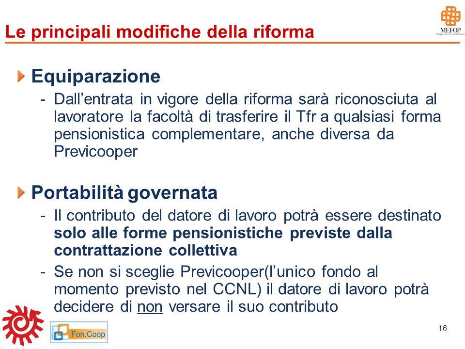 Le principali modifiche della riforma