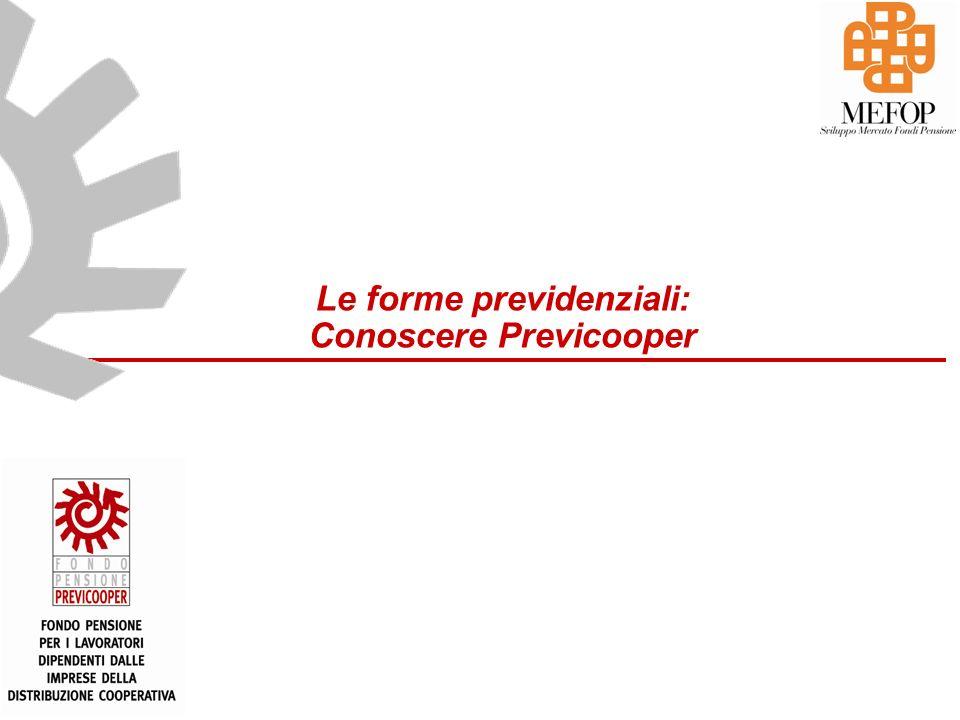 Le forme previdenziali: Conoscere Previcooper