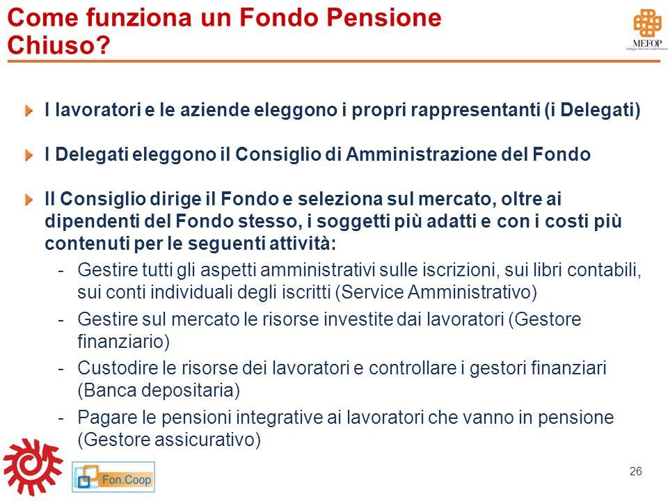 Come funziona un Fondo Pensione Chiuso