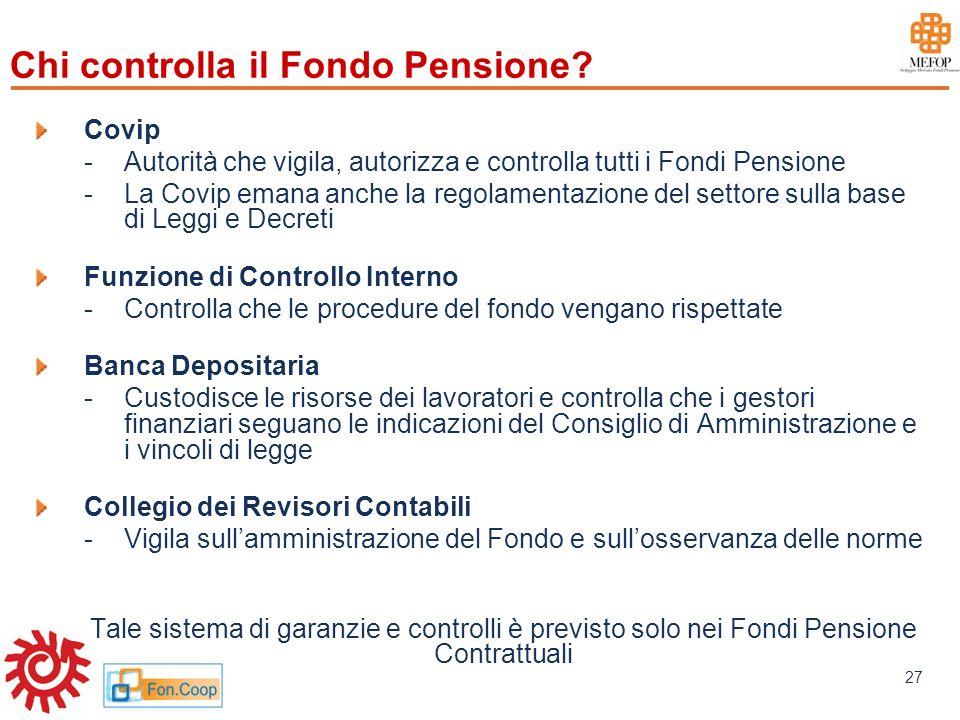 Chi controlla il Fondo Pensione