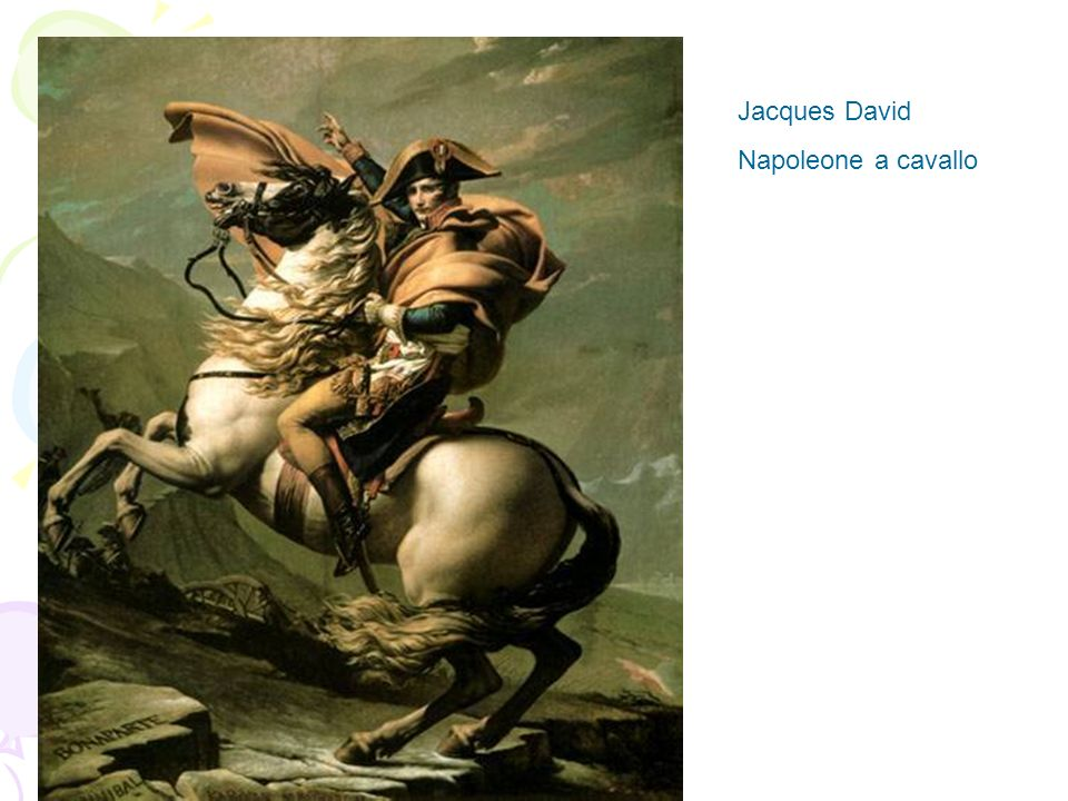 Jacques David Napoleone a cavallo