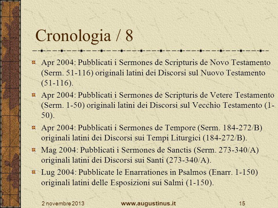 Cronologia / 8