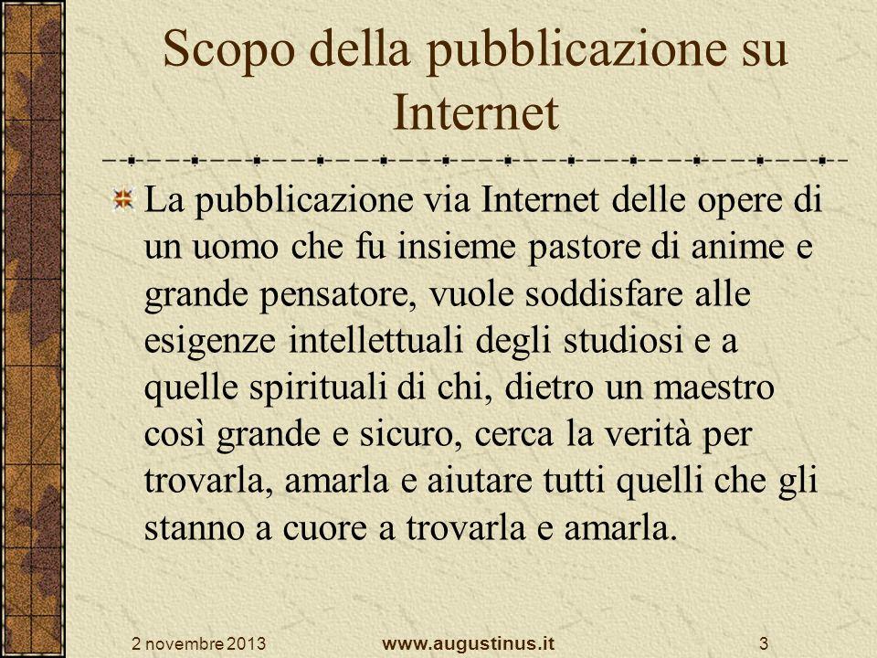 Scopo della pubblicazione su Internet