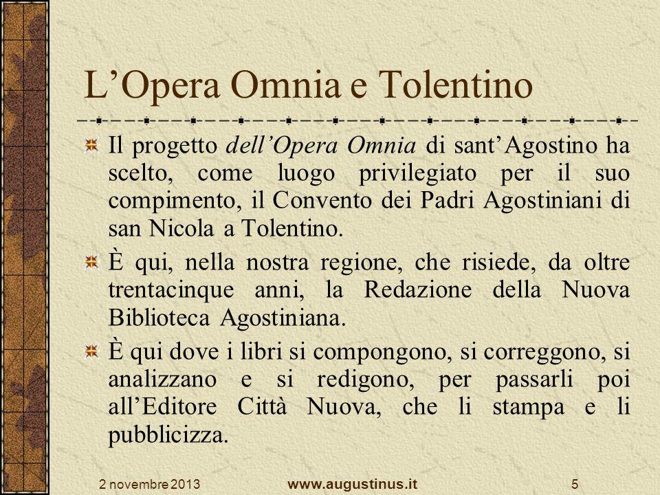 L'Opera Omnia e Tolentino