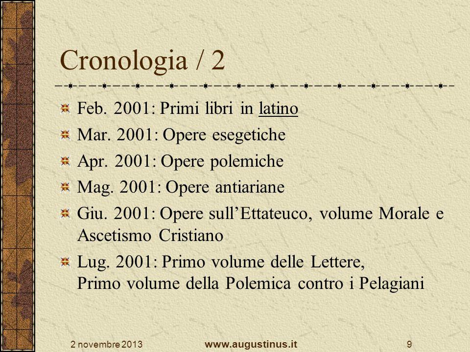 Cronologia / 2 Feb. 2001: Primi libri in latino