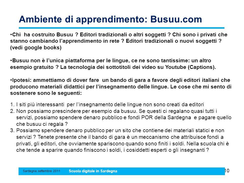 Ambiente di apprendimento: Busuu.com