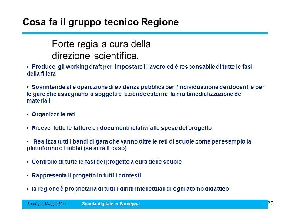 Cosa fa il gruppo tecnico Regione