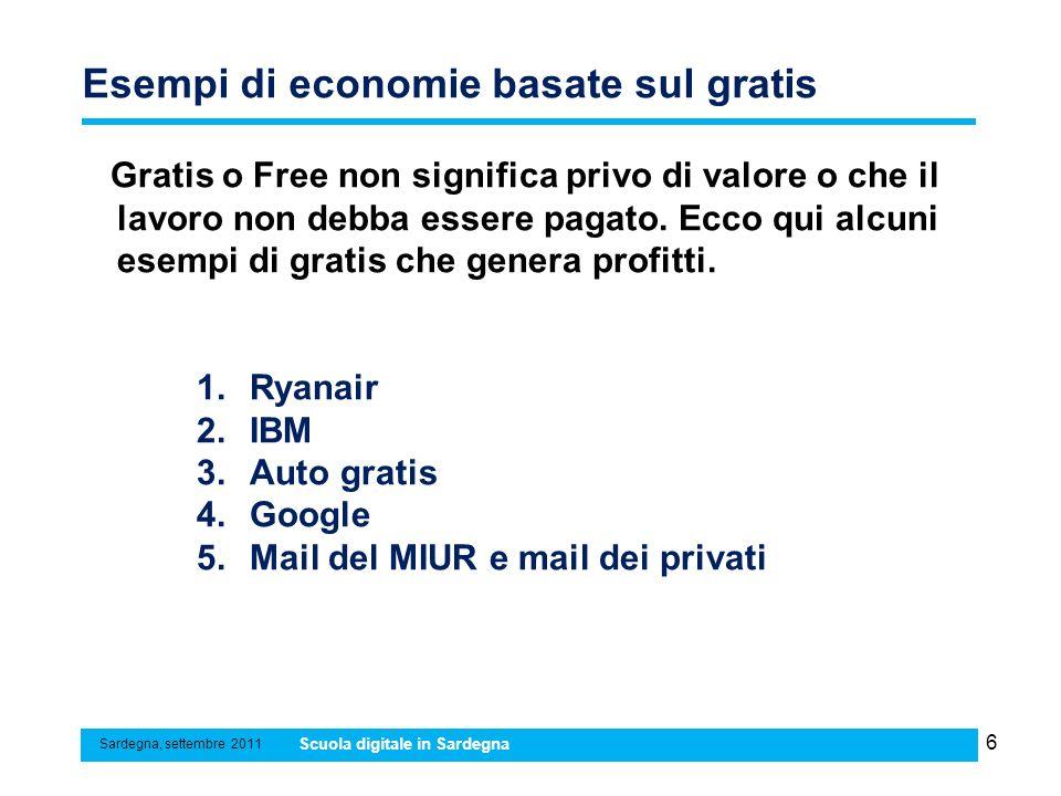 Esempi di economie basate sul gratis