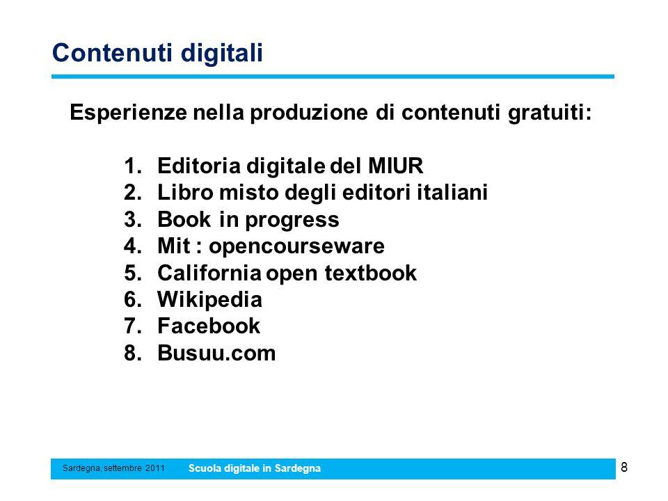 Contenuti digitali Esperienze nella produzione di contenuti gratuiti: