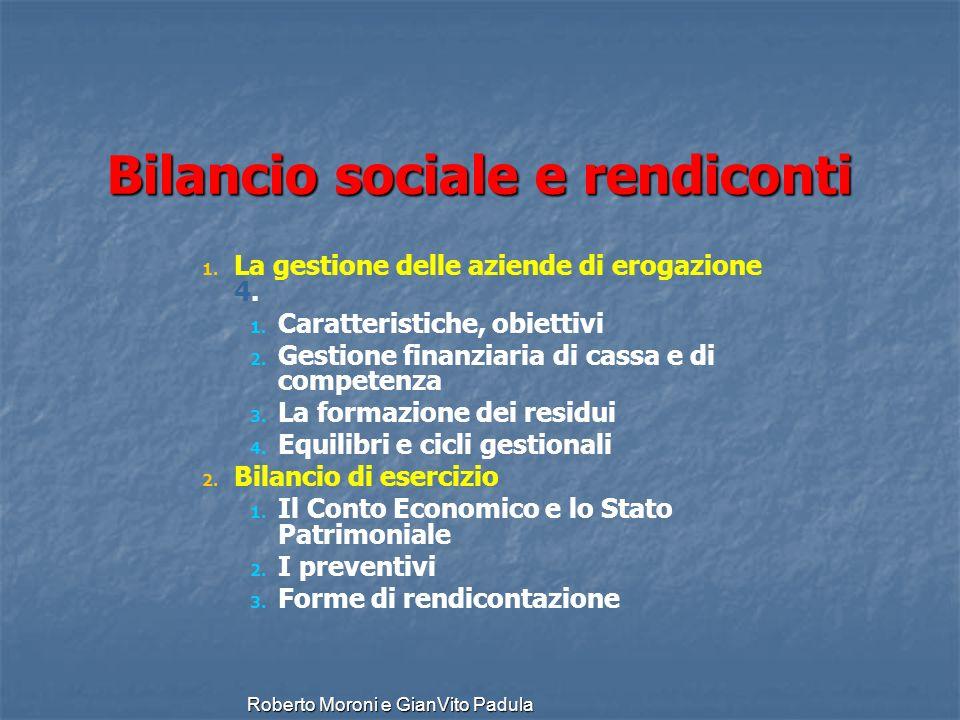 Bilancio sociale e rendiconti
