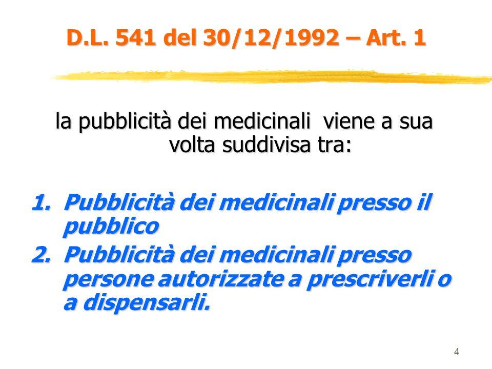 la pubblicità dei medicinali viene a sua volta suddivisa tra: