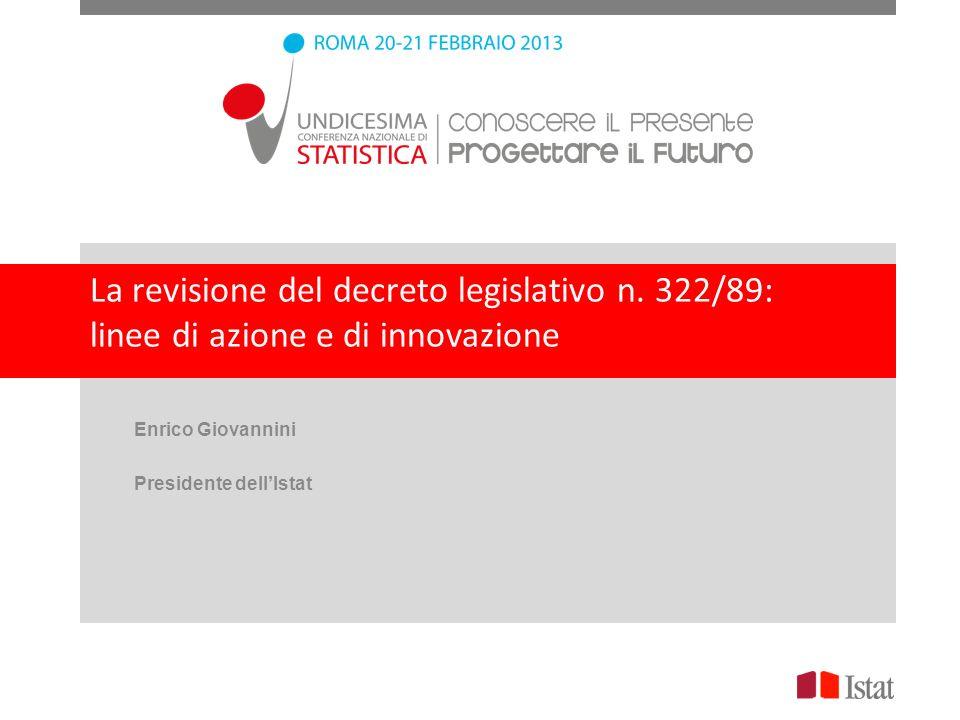 Enrico Giovannini Presidente dell'Istat