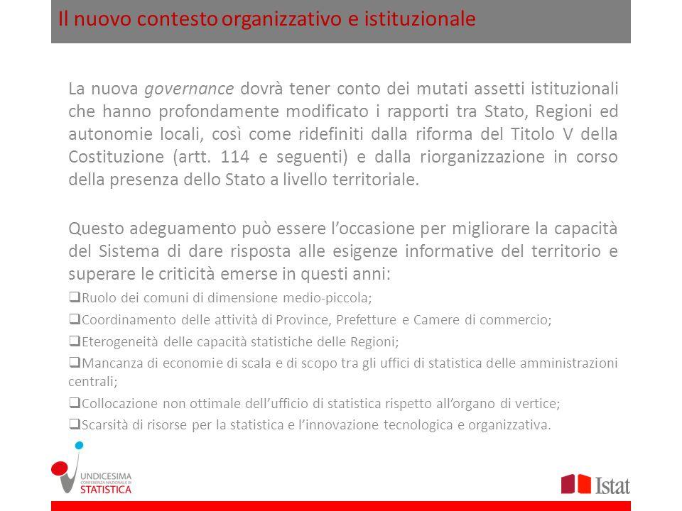 Il nuovo contesto organizzativo e istituzionale