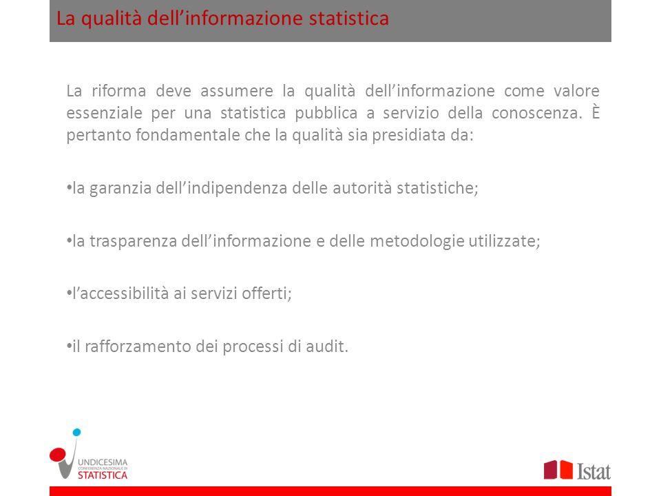 La qualità dell'informazione statistica
