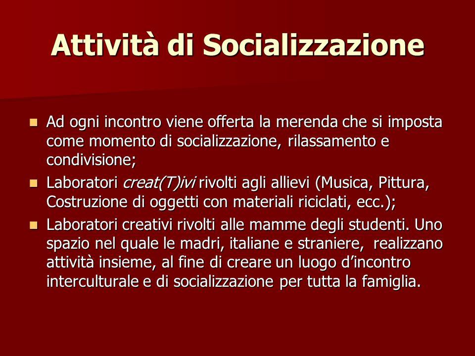 Attività di Socializzazione