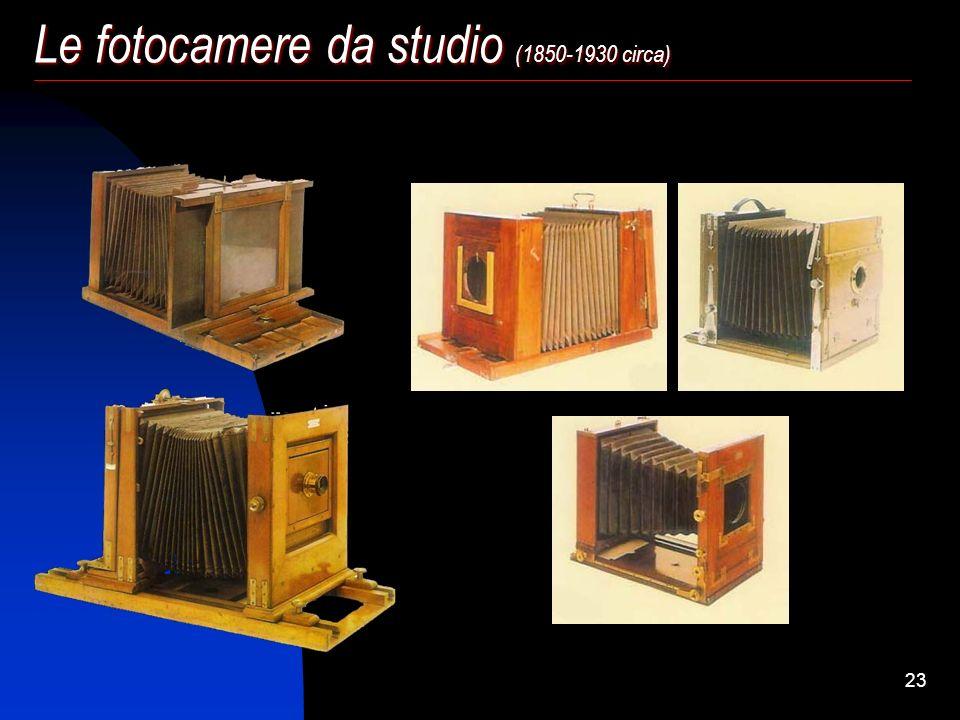 Le fotocamere da studio (1850-1930 circa)