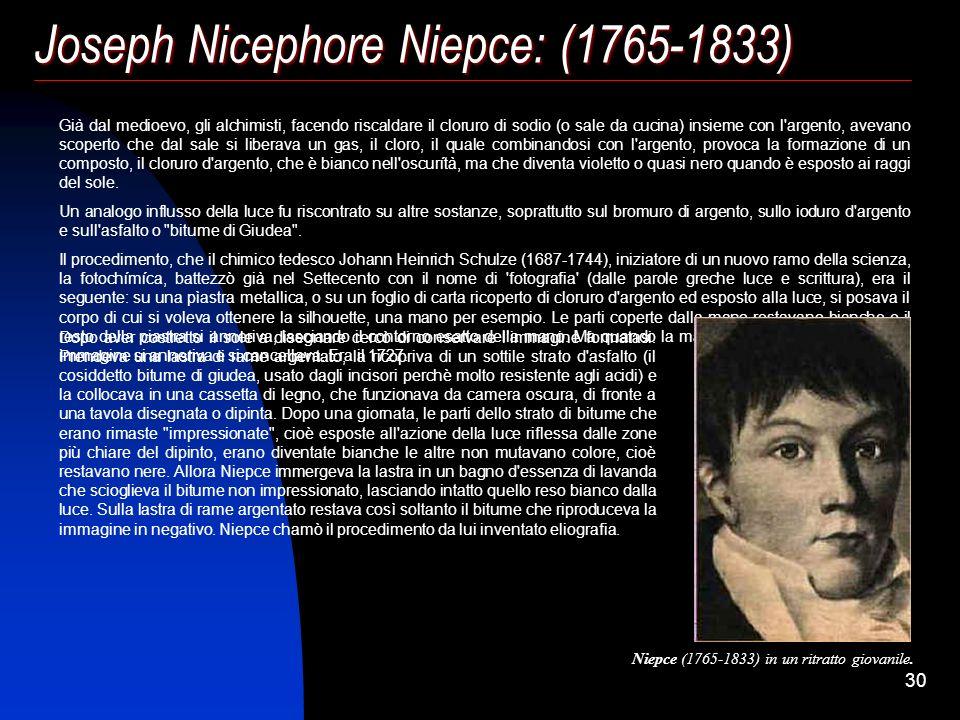 Joseph Nicephore Niepce: (1765-1833)