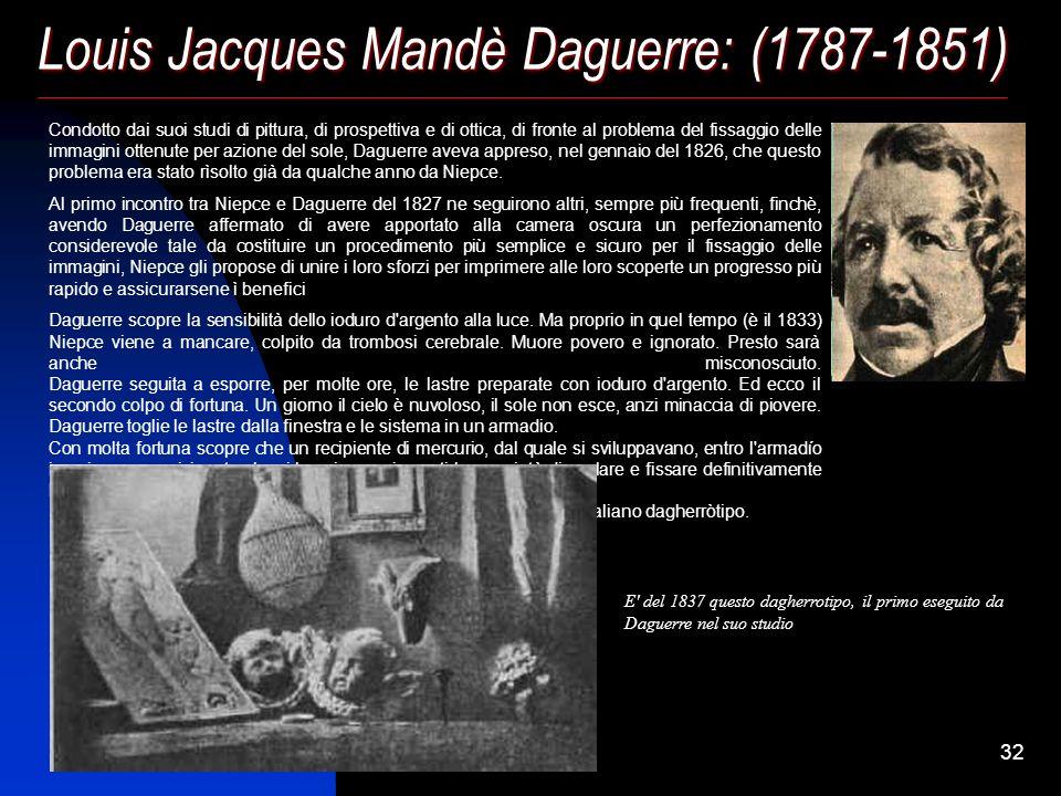 Louis Jacques Mandè Daguerre: (1787-1851)