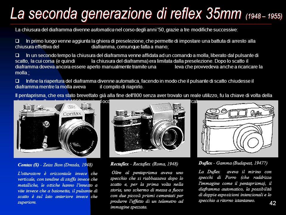 La seconda generazione di reflex 35mm (1948 – 1955)