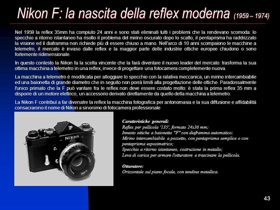 Nikon F: la nascita della reflex moderna (1959 – 1974)