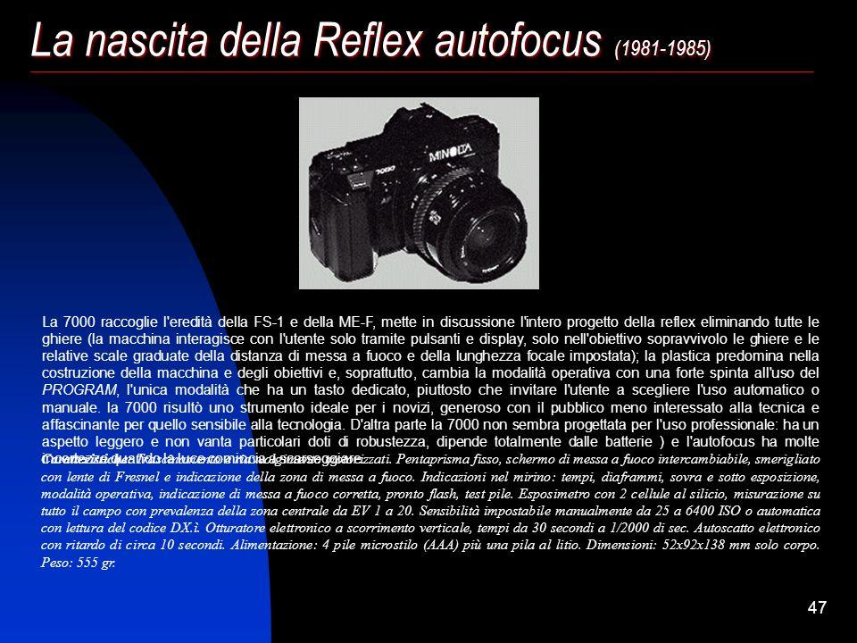 La nascita della Reflex autofocus (1981-1985)