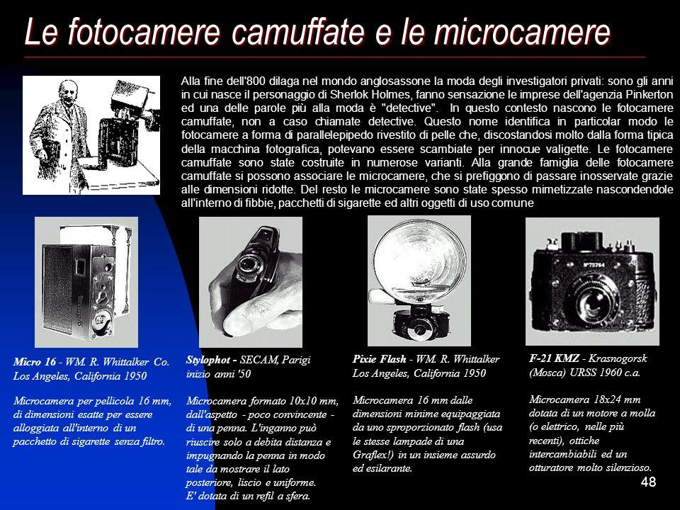 Le fotocamere camuffate e le microcamere
